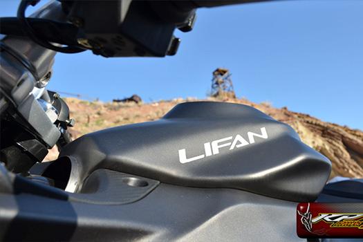 Lifan brand motorcycle model KPR 200 fuel tank