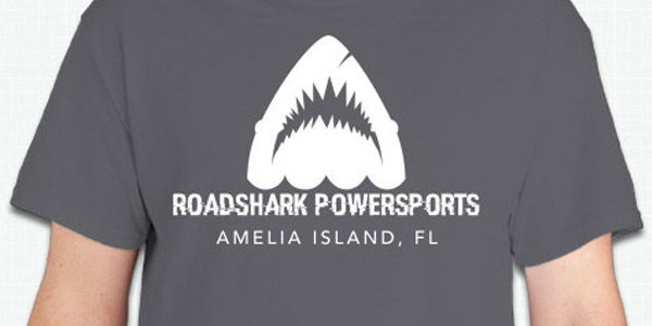 Roadshark Powersports logo T-shirt