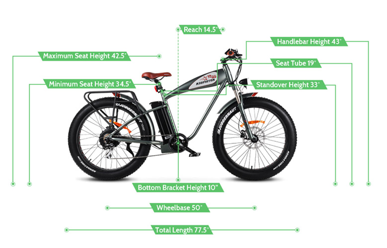 M5500 Addmotor Electric Bicycle Measurements
