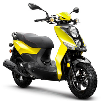Lance brand scooter model Cabo in yellow