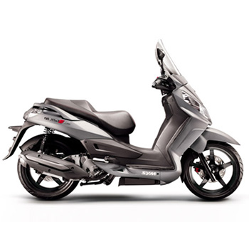 SYM brand scooter model Citycom in grey, right side