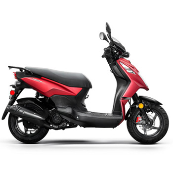Lance brand scooter model PHC in red, right side