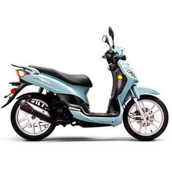Lance brand scooter model Soho in blue, right side