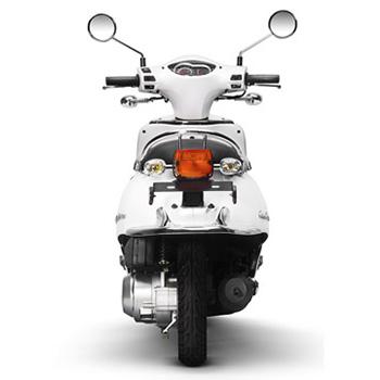 Lance brand scooter model Havana Classic in white, rear