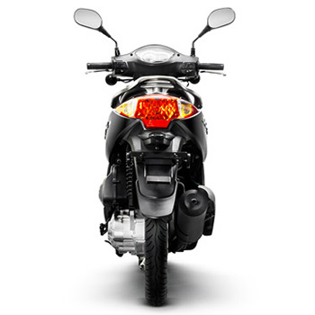 Lance brand scooter model Soho in black, rear