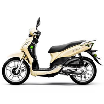 Lance brand scooter model Soho in yellow, left side