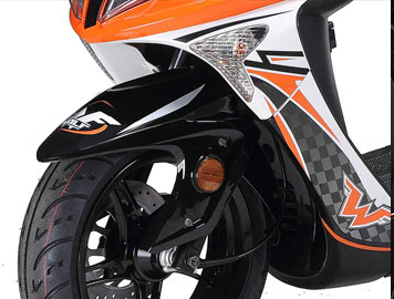 wolf EX150 front wheel detail
