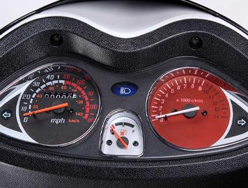 wolf EX150 speedometer detail