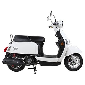 genuine buddy kick white scooter