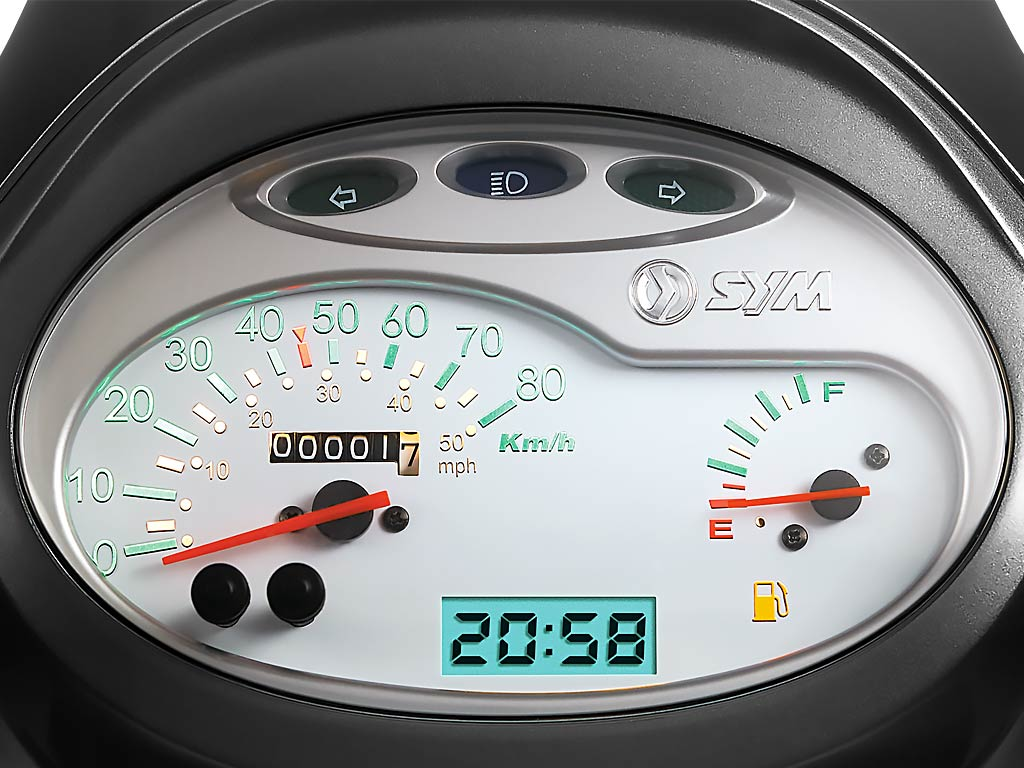 SYM Fiddle Scooter Gauges