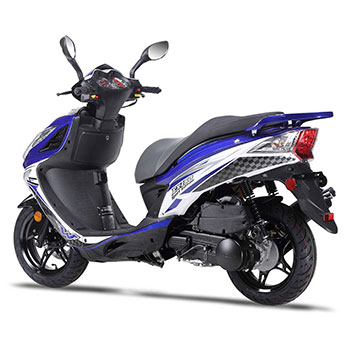 wolf EX150 scooter blue