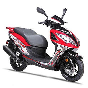 wolf EX150 scooter red