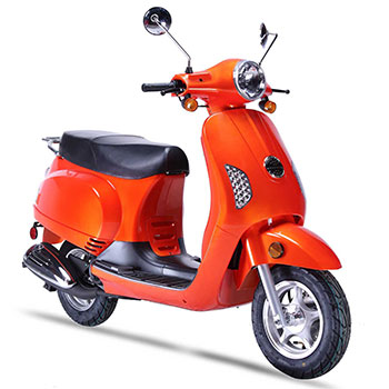 wolf lucky scooter orange