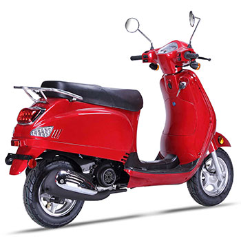 wolf lucky scooter red