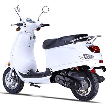 wolf lucky scooter white