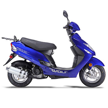 wolf rx50 scooter blue