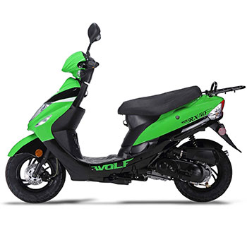 wolf rx50 scooter green