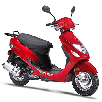wolf rx50 scooter red