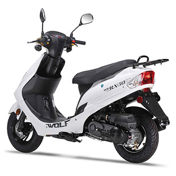 wolf rx50 scooter white