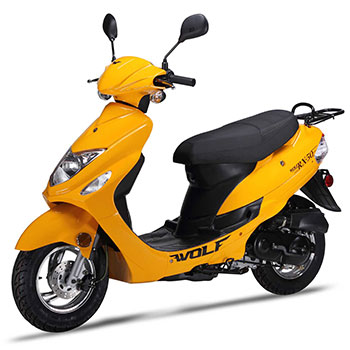 wolf rx50 scooter yellow