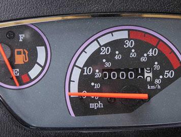 wolf rx50 speedometer detail