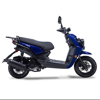 wolf rugby scooter blue