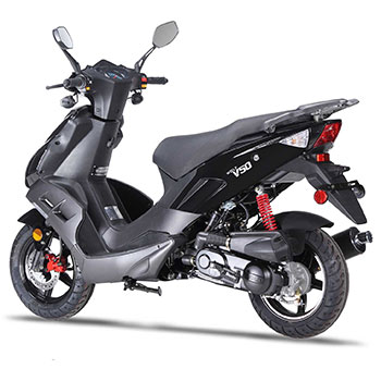 wolf v50 scooter black