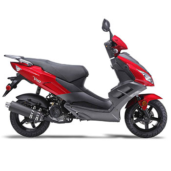 wolf v50 scooter red