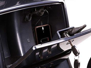 genuine grand tourer glove box detail