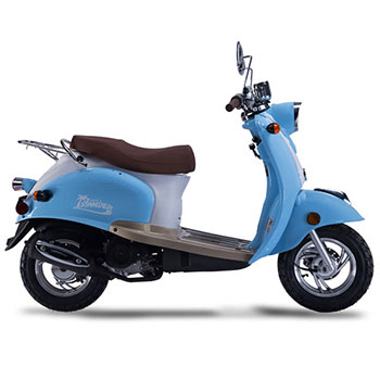 wold islander scooter blue