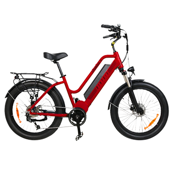 stunner x electric bicycle red