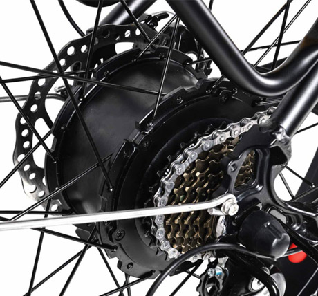 Addmotor M430 electric bicycle gears