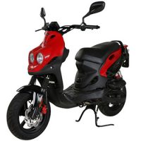 genuine scooter rattler 50cc color red photo